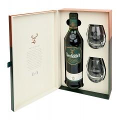 "Уиски ""Glenfiddich Single Malt "" 12 год. + 2 Чаши"